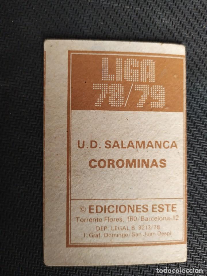 Cromos de Fútbol: Liga Este 1978 1979 / 78 79 Corominas (Salamanca) Nunca pegado (sin pegar) - Foto 2 - 206573082