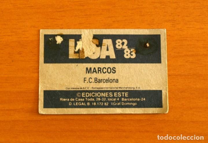 Cromos de Fútbol: Fútbol Club Barcelona - Marcos - Ediciones Este 1982-1983, 82-83 - Foto 2 - 206798397