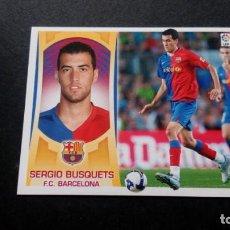 Cromos de Fútbol: 10 SERGIO BUSQUETS BARCELONA SIN PEGAR PANINI EDICIONES ESTE LIGA 2009 2010 09 10. Lote 207042295