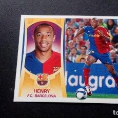 Cromos de Fútbol: 14 HENRY BARCELONA SIN PEGAR PANINI EDICIONES ESTE LIGA 2009 2010 09 10. Lote 207042307