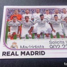 Cromos de Fútbol: 21 EQUIPO ALINEACION REAL MADRID SIN PEGAR PANINI EDICIONES ESTE LIGA 2014 2015 14 15. Lote 207043477