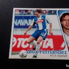 Cromos de Fútbol: ALEX FERNANDEZ ESPANYOL ESPAÑOL SIN PEGAR PANINI EDICIONES ESTE LIGA TEMPORADA 2004 2005 04 05. Lote 207043750