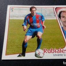 Cromos de Fútbol: RUBIALES LEVANTE SIN PEGAR PANINI EDICIONES ESTE LIGA TEMPORADA 2004 2005 04 05. Lote 207043770