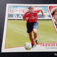 Cromos de Fútbol: NAVARRO NUMANCIA SIN PEGAR PANINI EDICIONES ESTE LIGA TEMPORADA 2004 2005 04 05. Lote 207043791