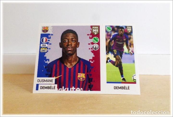 Etiqueta engomada de Ousmane Dembele Barcelona-PANINI FIFA 365 2018 Pegatinas-Francia