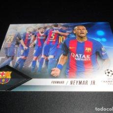 Cromos de Fútbol: NEYMAR JR FORWARD FC BARCELONA CARDS TOPPS SHOWCASE UEFA CHAMPIONS LEAGUE 16 17 2016 2017. Lote 207237047