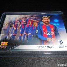 Cromos de Fútbol: LIONEL MESSI FORWARD FC BARCELONA CARDS TOPPS SHOWCASE UEFA CHAMPIONS LEAGUE 16 17 2016 2017. Lote 207237236