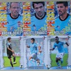Cromos de Fútbol: LOTE 10 FICHAS CELTA DE VIGO MUNDICROMO 2013 2014 13 14. Lote 207238577