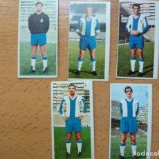 Cromos de Fútbol: LOTE DE 5 CROMOS FUTBOL EDITORIAL ESTE LIGA 75/76 , R.C.D.ESPAÑOL , NO PEGADOS. Lote 207288002