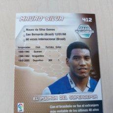Cromos de Fútbol: Nº 412 MAURO SILVA - MEGACRACKS 05 06 - FICHA - MEGA INOLVIDABLES. Lote 207306597