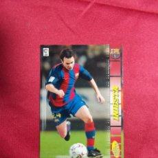 Cromos de Fútbol: MEGACRACKS 2004 2005 PANINI. INIESTA. Nº 67 .F.C BARCELONA. Lote 207343575