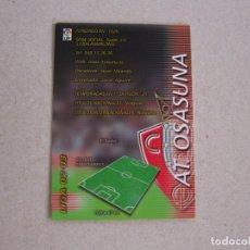 Cromos de Fútbol: PANINI MEGAFICHAS 2002 2003 Nº 199 INDICE OSASUNA MEGACRACKS 02 03. Lote 207343597