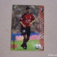 Cromos de Fútbol: PANINI MEGAFICHAS 2002 2003 Nº 201 IZQUIERDO OSASUNA MEGACRACKS 02 03. Lote 207343637