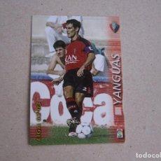 Cromos de Fútbol: PANINI MEGAFICHAS 2002 2003 Nº 202 YANGUAS OSASUNA MEGACRACKS 02 03. Lote 207343650