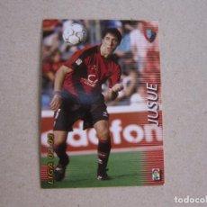 Cromos de Fútbol: PANINI MEGAFICHAS 2002 2003 Nº 204 JUSUE OSASUNA MEGACRACKS 02 03. Lote 207343728