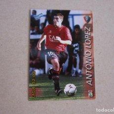Cromos de Fútbol: PANINI MEGAFICHAS 2002 2003 Nº 204 BIS ANTONIO LOPEZ OSASUNA MEGACRACKS 02 03. Lote 207343757