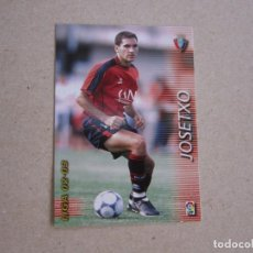 Cromos de Fútbol: PANINI MEGAFICHAS 2002 2003 Nº 205 JOSETXO OSASUNA MEGACRACKS 02 03. Lote 207343768
