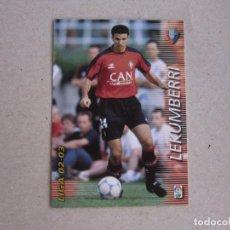 Cromos de Fútbol: PANINI MEGAFICHAS 2002 2003 Nº 207 LEKUMBERRI OSASUNA MEGACRACKS 02 03. Lote 207343837