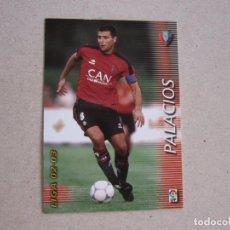 Cromos de Fútbol: PANINI MEGAFICHAS 2002 2003 Nº 210 PALACIOS OSASUNA MEGACRACKS 02 03. Lote 207343903