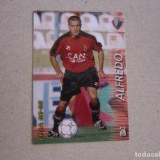 Cromos de Fútbol: PANINI MEGAFICHAS 2002 2003 Nº 211 ALFREDO OSASUNA MEGACRACKS 02 03. Lote 207343926