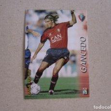 Cromos de Fútbol: PANINI MEGAFICHAS 2002 2003 Nº 212 GANCEDO OSASUNA MEGACRACKS 02 03. Lote 207343957