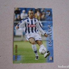 Cromos de Fútbol: PANINI MEGAFICHAS 2002 2003 Nº 260 ESPINOLA RECREATIVO HUELVA MEGACRACKS 02 03. Lote 207345241