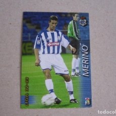 Cromos de Fútbol: PANINI MEGAFICHAS 2002 2003 Nº 261 MERINO RECREATIVO HUELVA MEGACRACKS 02 03. Lote 207345281