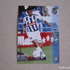 Cromos de Fútbol: PANINI MEGAFICHAS 2002 2003 Nº 262 CHELI RECREATIVO HUELVA MEGACRACKS 02 03. Lote 207345306