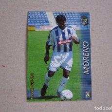 Cromos de Fútbol: PANINI MEGAFICHAS 2002 2003 Nº 263 MORENO RECREATIVO HUELVA MEGACRACKS 02 03. Lote 207345361
