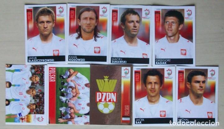 LOTE 9 CROMOS POLONIA CROMOS PANINI EURO 2008 AUSTRIA - SUIZA (Coleccionismo Deportivo - Álbumes y Cromos de Deportes - Cromos de Fútbol)