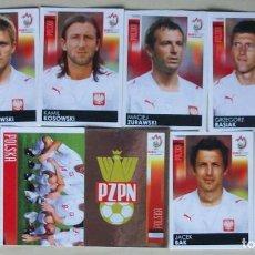 Cromos de Fútbol: LOTE 9 CROMOS POLONIA CROMOS PANINI EURO 2008 AUSTRIA - SUIZA. Lote 207477980