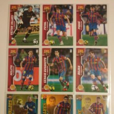 Cromos de Fútbol: LOTE DE 18 CROMOS FC.BARCELONA MEGACRACKS 2010-2011 NUEVOS DE SOBRE (INCLUYE ESPECIALES). Lote 207661981