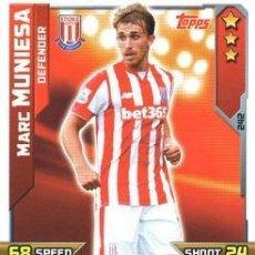 Cromos de Futebol: 242-MARC MUNIESA-STOKE CITY-BASE CARD-TOPPS ENGLISH PREMIER LEAGUE 2015-2016 - MATCH ATTAX. Lote 207994030