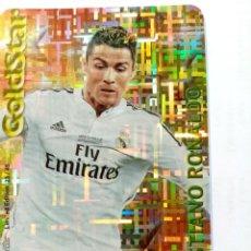 Cromos de Fútbol: MUNDICROMO QUIZ 2015 CRISTIANO RONALDO R. MADRID GOLDSTAR TETRIS 23/45. Lote 208132600