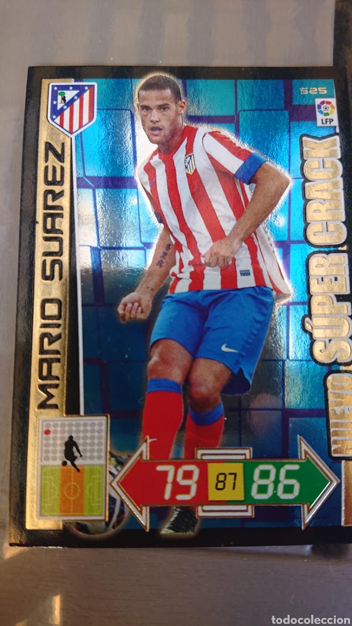 ADRENALYN 2012 2013 12 13 NUEVO SUPER CRACK MARIO SUÁREZ 525 ATLÉTICO DE MADRID (Coleccionismo Deportivo - Álbumes y Cromos de Deportes - Cromos de Fútbol)