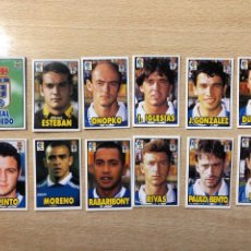 Cromos de Fútbol: EQUIPO COMPLETO REAL OVIEDO 98 99 1998 1999 BIMBO BONY TIGRETON. Lote 208912735