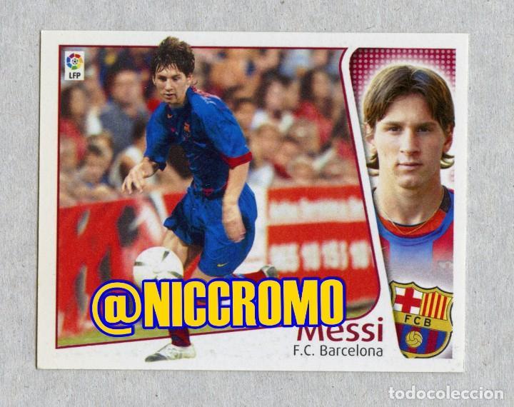 ROOKIE CARD MESSI FC BARCELONA 2004 2005 STICKER EDICIONES ESTE PANINI LIGA VER ESTADO FOTOS 1 (Coleccionismo Deportivo - Álbumes y Cromos de Deportes - Cromos de Fútbol)