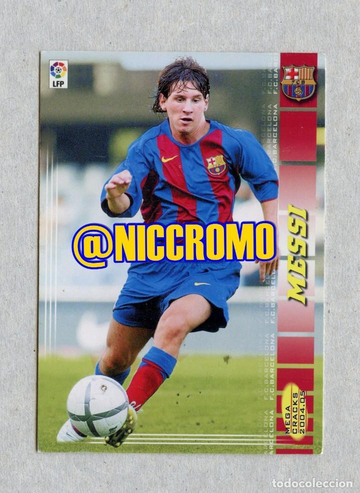 ROOKIE CARD MESSI FC BARCELONA 2004 2005 MEGACRACKS 71 BIS PANINI VER ESTADO FOTOS 1 (Coleccionismo Deportivo - Álbumes y Cromos de Deportes - Cromos de Fútbol)