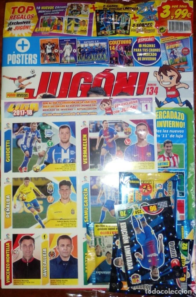 REVISTA JUGON 134 PRECINTADA (Coleccionismo Deportivo - Álbumes y Cromos de Deportes - Cromos de Fútbol)