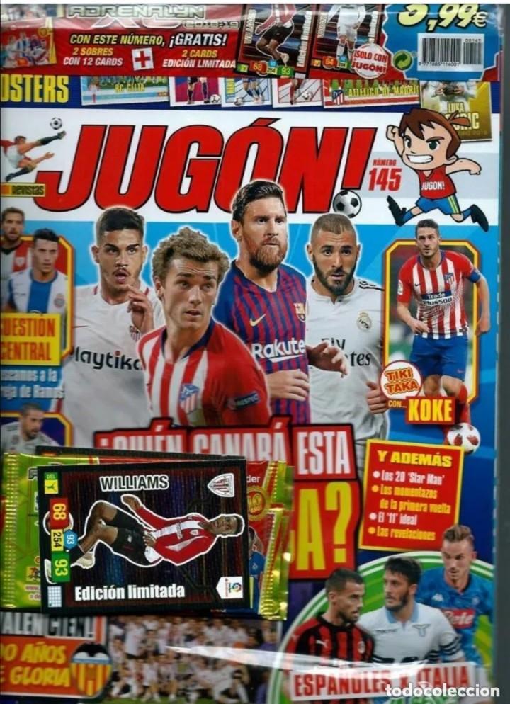 REVISTA JUGON 145 PRECINTADA (Coleccionismo Deportivo - Álbumes y Cromos de Deportes - Cromos de Fútbol)