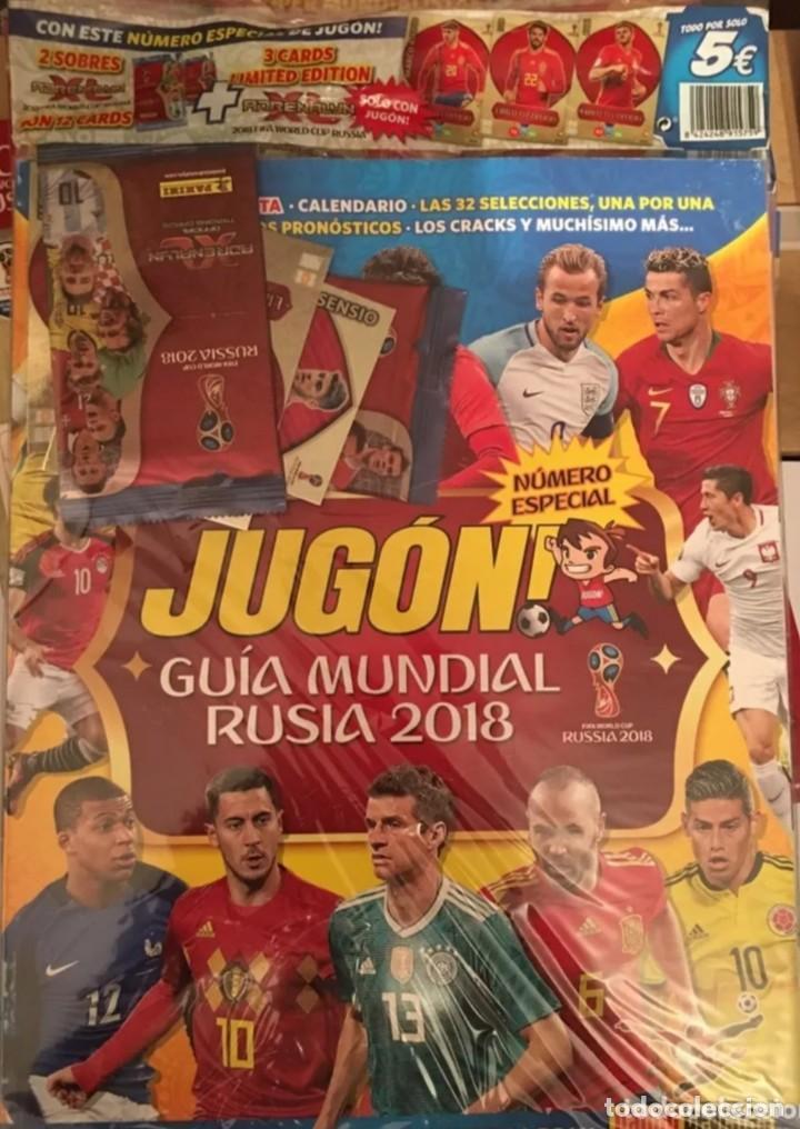 REVISTA JUGON MUNDIAL RUSIA 2018 PRECINTADA (Coleccionismo Deportivo - Álbumes y Cromos de Deportes - Cromos de Fútbol)
