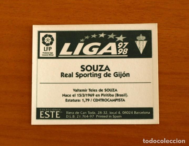 Cromos de Fútbol: Sporting de Gijón - Souza - BAJA - Ediciones Este 1997-1998, 97-98 - nunca pegado - Foto 2 - 210022567