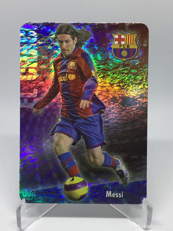80 MESSI EL CRACK JASPEADO PUNTAS REDONDAS F.C. BARCELONA CROMOS MUNDICROMO 2008 2009 08 09 (Coleccionismo Deportivo - Álbumes y Cromos de Deportes - Cromos de Fútbol)