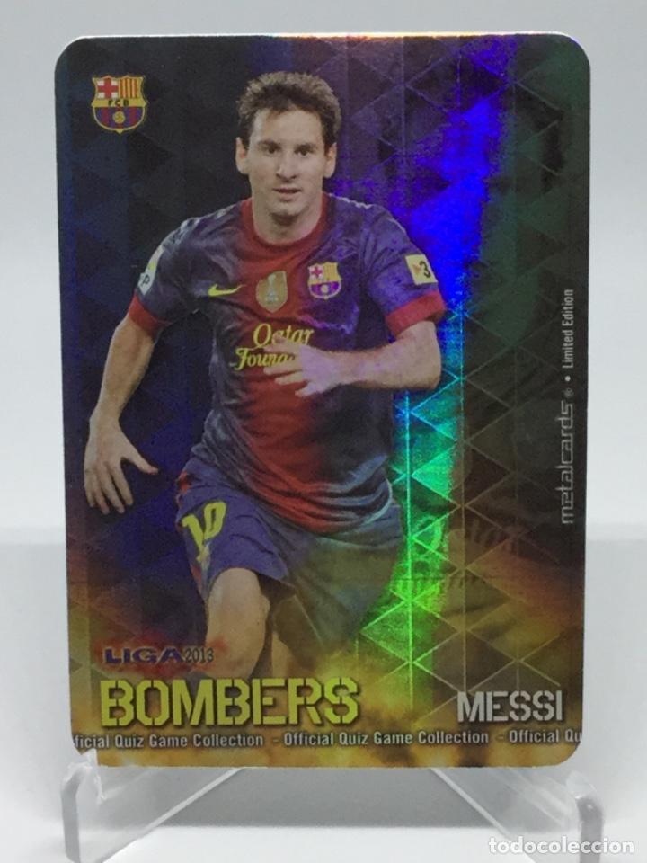 MUNDICROMO 2013 : 1/21 MESSI ( BARCELONA ) -- BOMBERS RAYAS VERTICALES (Coleccionismo Deportivo - Álbumes y Cromos de Deportes - Cromos de Fútbol)