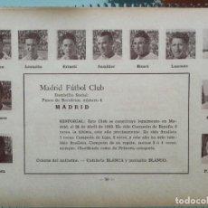 Cromos de Fútbol: ( REAL ) MADRID F. C. - TEMPORADA 34/35 1934/35 - HOJA DE LA GUÍA FUTBOLISTICA - ZAMORA SAMITIER.... Lote 159376026