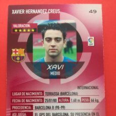 Cromos de Fútbol: 49 - XAVI - F.C.BARCELONA - MEGACRACKS 2006-2007 / 06-07. Lote 210222668