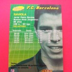 Cromos de Fútbol: 389 - SAVIOLA - F.C.BARCELONA - MEGACRACKS 2004-2005 / 04-05. Lote 210223035