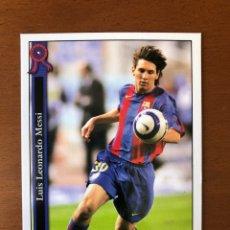 Cromos de Fútbol: MESSI 602 + FC BARCELONA 2006 MUNDICROMO PERFECTO, CENTRADO. MINT CONDITION. Lote 210287030