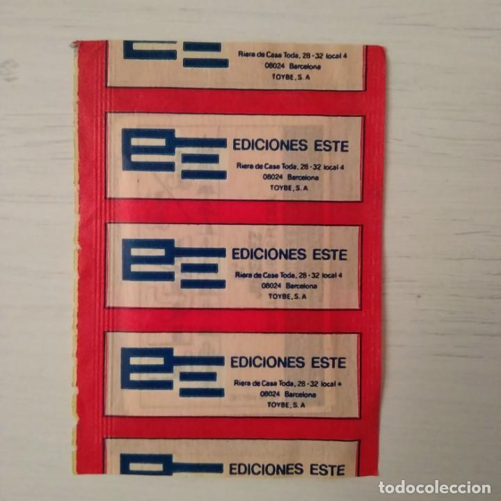 Cromos de Fútbol: EDICIONES ESTE 1988 / 1989: SOBRE NUEVO, SIN ABRIR LIGA. TRASERA ROJA (DIFÍCIL). - Foto 2 - 209064955