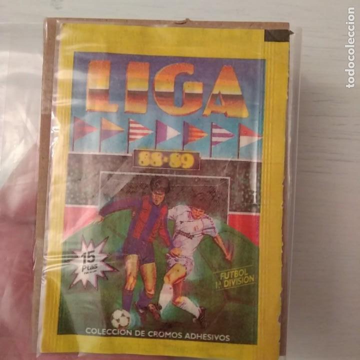 Cromos de Fútbol: EDICIONES ESTE 1988 / 1989: SOBRE NUEVO, SIN ABRIR LIGA. TRASERA ROJA (DIFÍCIL). - Foto 3 - 209064955